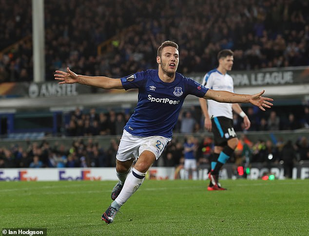 Nikola Vlasic failed to score in the Premier League during his time at Everton but did manage two goals in the Europa League, including against Limassol (above)