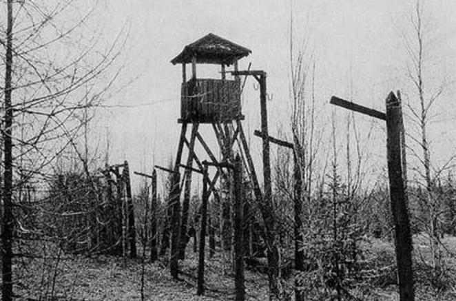 After a brutal interrogation, she was sent thousands of miles away from her home in what was then Leningrad - now St Petersburg - to Kazakhstan's notorious Karlag, which was one of the largest Gulag labour camps in the Soviet Union. Above: The perimeter of part of the camp