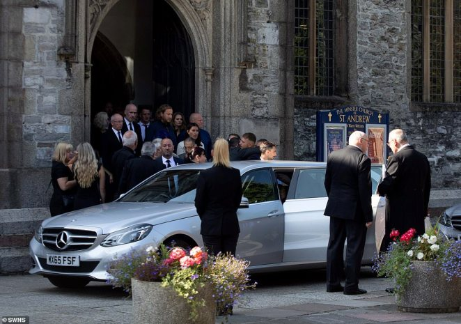 The funeral of Lee Martyn, 43, and his daughter Sophie takes place at the Church of St Andrews in Plymouth today