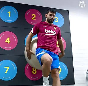 Aguero went to use the gym before a training session at Barcelona but said the facilities were closed and the lights were off