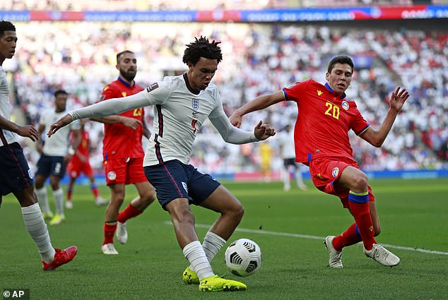 Alexander-Arnold had more joy in wider areas and England scored three after half-time