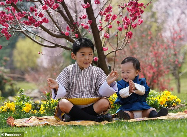 Prince Jigme (left), the five-year-old son of King Jigme Khesar Namgyel Wangchuck of Bhutan, was among those aboard the aircraft in Delhi