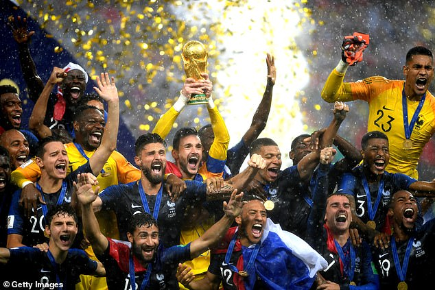 France won the last World Cup, which was held over three years ago in Russia in 2018