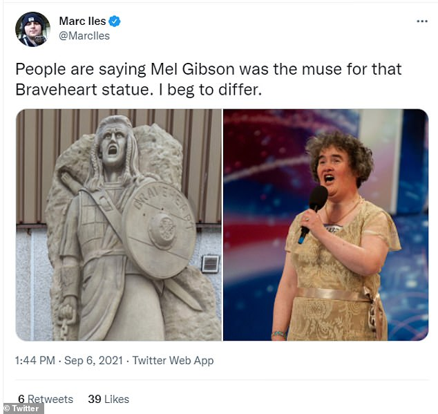 Several used references to pop culture to mock the statue
