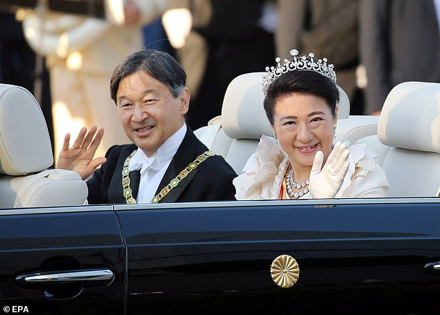 Japan's Emperor Naruhito (L) and Empress Masako are the current rulers of Japan, but the imperial family are running out of male heirs