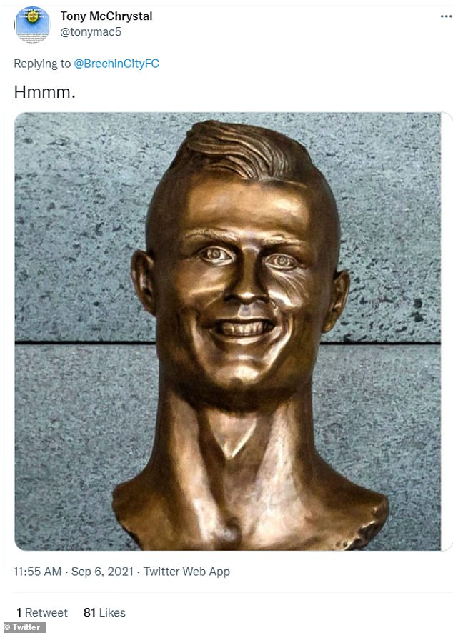Some also compared the statue to other more bizarre statues of football heroes, like the much-ridiculed Cristiano Ronaldo statue in Portugal
