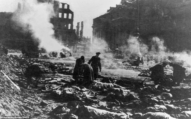 After being sent on a death march in April 1945 as Allied and Soviet troops approached the Nazis' network of concentration and extermination camps, Catherine was able to slip away in the bombed city of Dresden