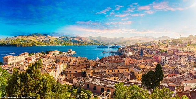 To get to Elba, take a train or car from Rome or Florence to Piombino near Livorno, and catch one of the ferries to the town of Portoferraio (pictured)