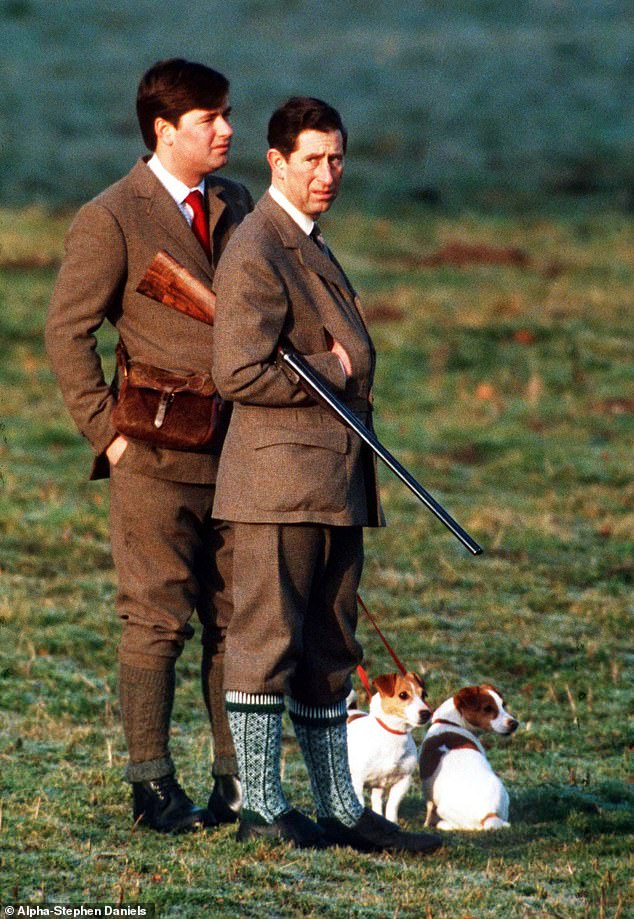 Old friends: Prince Charles and Michael Fawcett at the Christmas Shoot at Sandringham in 1992