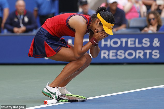 The 18-year-old Brit superbly beat Shelby Rogers 6-2 6-1 to reach quarter-finals in New York