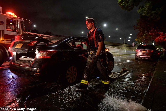 At least 41 people have been killed in the Northeast, including a family of three with a two-year-old boy who drowned in a New York City basement, after the tail-end of Hurricane Ida crept up on the tri-state area on Wednesday night