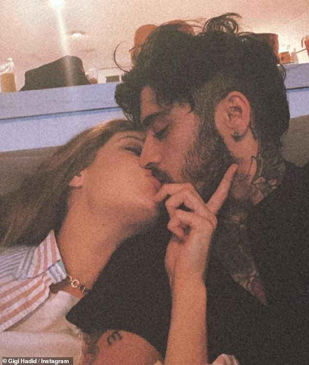 Sweet: Zayn, 28, decided to quit the band in 2015 and has since welcomed his first child, daughter Khai, with model Gigi Hadid, 26, ten months ago