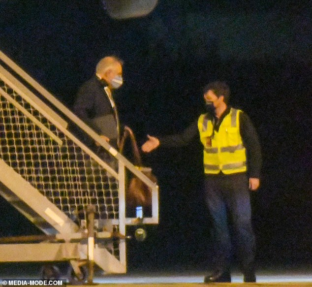 Scott Morrison (pictured arriving in Sydney on Friday) has defended his trip home to Sydney for Fathers' Day after he was slammed for showing 'appalling judgement
