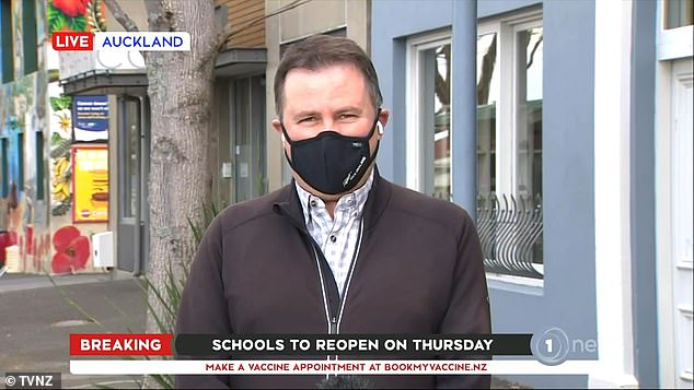 A New Zealand cameraman had been filming a live interview with Professor Shaun Hendy in the Auckland suburb of Grey Lynn for TVNZ's 1 NEWS on Monday