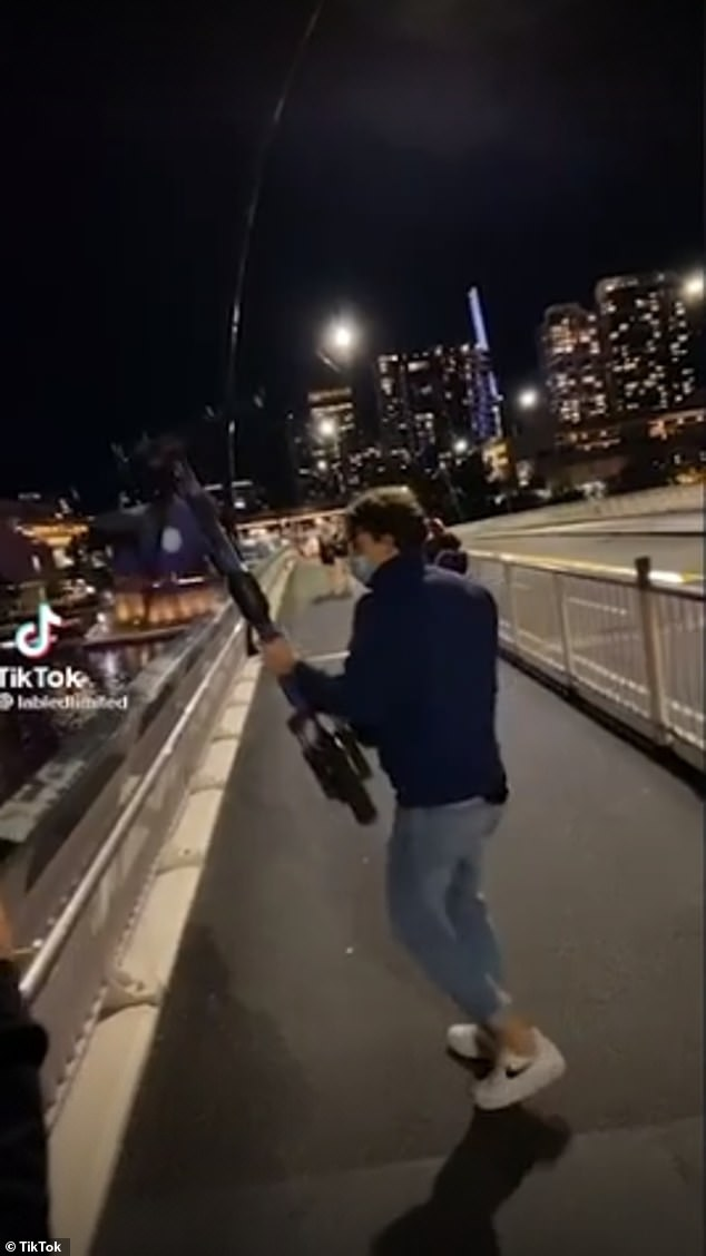 While the video has been deleted of social media platform TikTok, many have condemned the actions of the man, with reports flooding in to e-scooter operator Beam