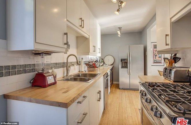 The kitchen inside Quigley's Venice residence is seen in an old listing photo