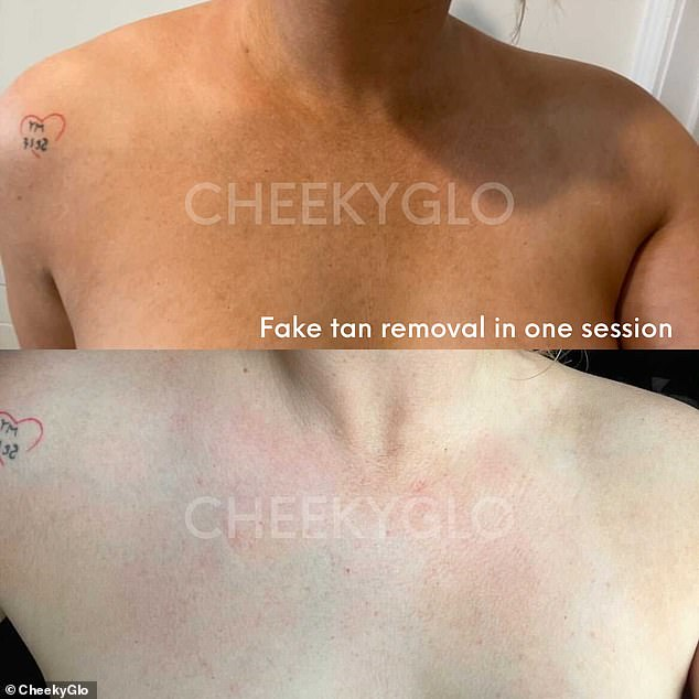 One customer saw results after she was able to remove all of her fake tan following one scrub