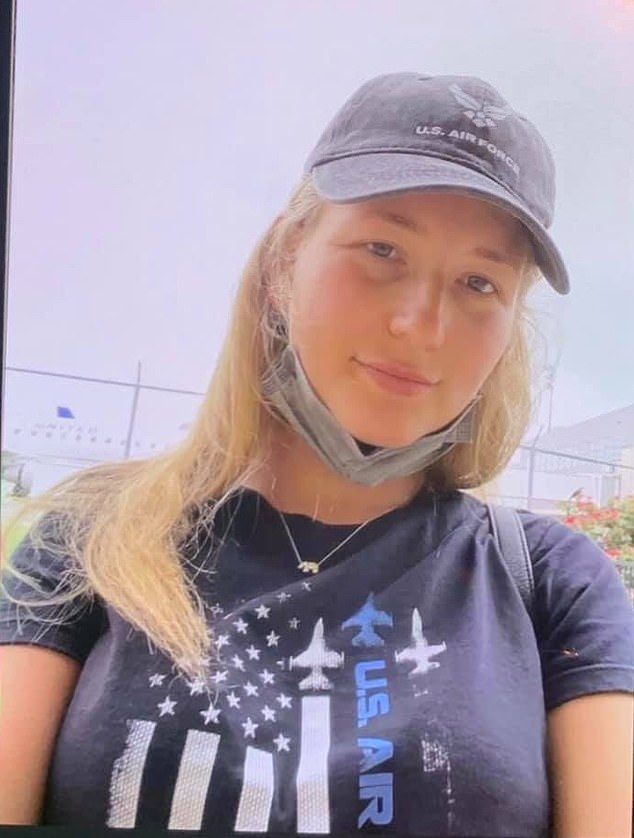 The body of Perrin Damron, 23, from Stuart, Florida, (pictured) was found in a canal in Indiantown, Florida, on Monday after the suspect led detectives to her body
