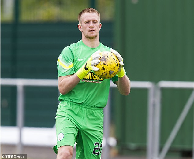 The 30-year-old is a goalkeeper, pictured playing for Greenock Morton back in July 2015