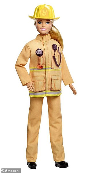 Emily was pictured holding a Barbie doll wearing a firefighters outfit (pictured, stock)