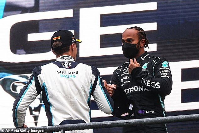 Russell (left) will link up with seven-time world champion Lewis Hamilton (right) from 2022