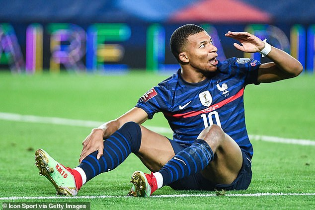 Kylian Mbappe has left the national team set-up due to a calf injury