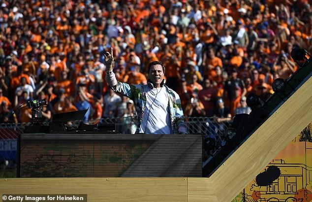 Dutch DJ legend Tiesto performed to the crowd after Max Verstappen's big win on Sunday