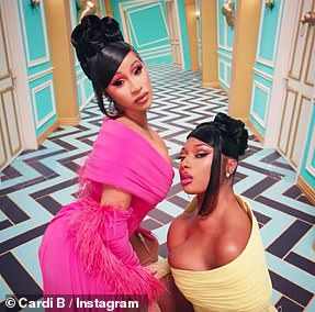 It's a hit: Cardi B and Megan Thee Stallion are nominated for the top honor, Video Of The Year, for WAP