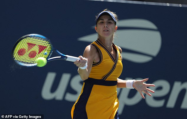 Wade has predicted Raducanu to face a formidable test in the form of Belinda Bencic (above)