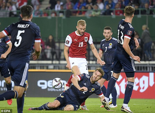 An organised and disciplined Scotland defence prevented Austria from creating chances