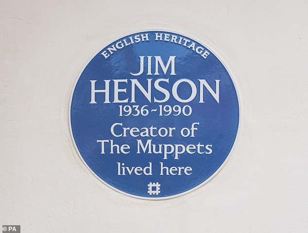 The creator of the Muppets has been honoured with a blue plaque at his former London home