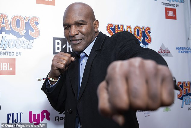 Holyfield, a friend of Trump stepped into the fight after Oscar De La Hoya contracted COVID