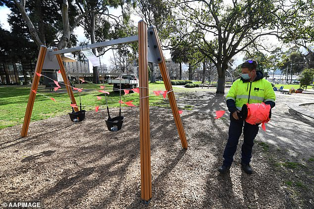 Premier Dan Andrews had announced on August 16 that playgrounds across the state would close to reduce the possibility of transmission events, before later backflipping on the rule