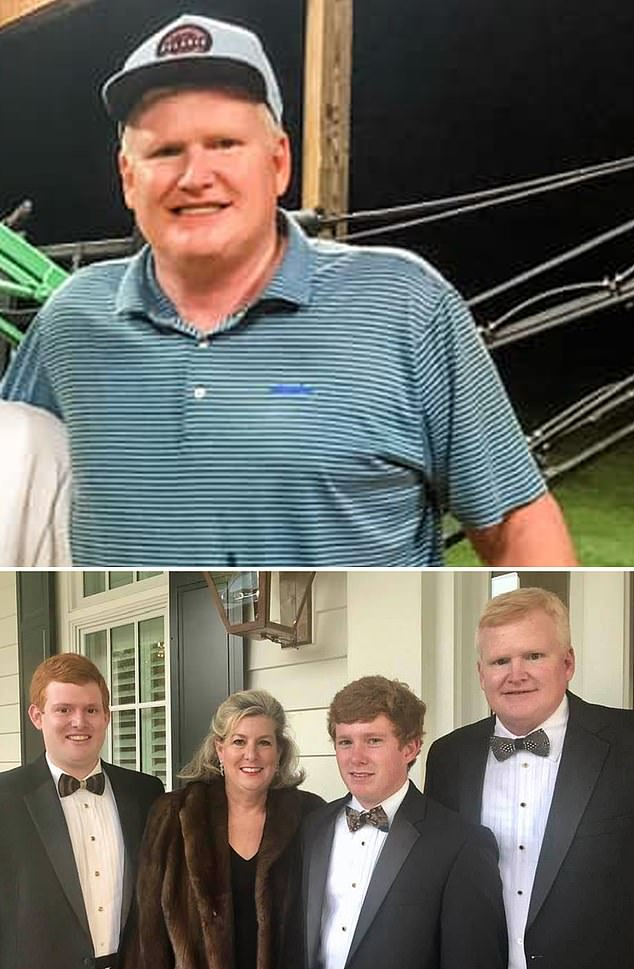 Alex Murdaugh, 53 (top and bottom right), is in rehab after resigning from his law firm on Friday amid claims he misappropriated millions of dollars