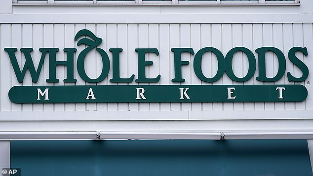 Two new Whole Foods stores opening next year, one in Washington, D.C. with the other in Sherman Oaks, California, will use cashier-less technology (file image)