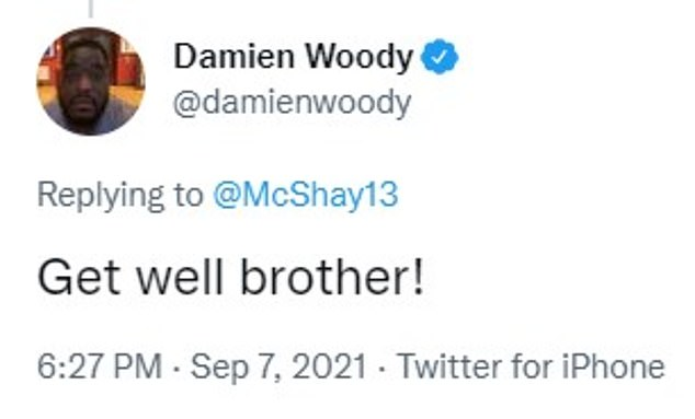 Former NFL offensive lineman and analyst Damien Woody also chimed in