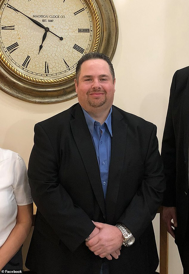 Brian Downey, 47, (pictured) deputy mayor of Airmont, New York would be forced to leave office if convicted of a felony