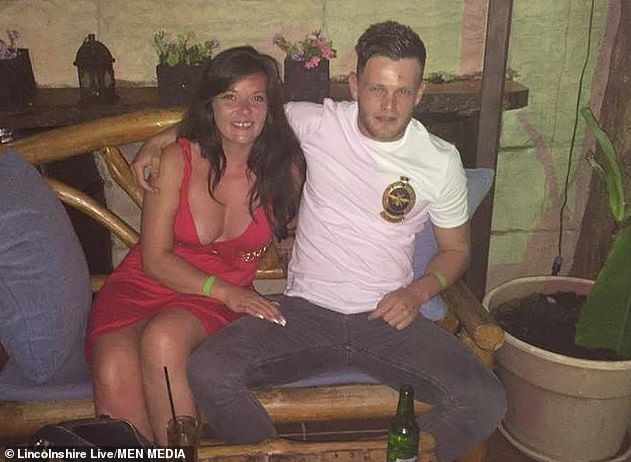 Pictured: Danielle Thomas with ex-boyfriend Reece Thompson who was jailed for his abusive and violent behaviour towards the mother-of-two at Nottingham Crown Court in April 2019