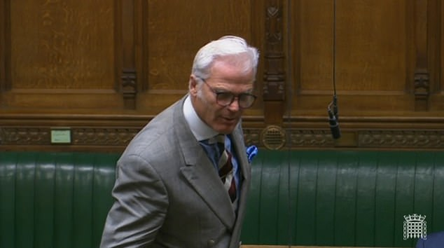 Sir Desmond Swayne, another ex-minister, swiped: 'Isn't the super-spreader event the spread of a liberal discriminatory and coercive policy from this despatch box?'