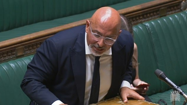 Nadhim Zahawi squirmed in the Commons today as he was hammered by Tory MPs over 'unsupportable, coercive and discriminatory' plans for Covid passports