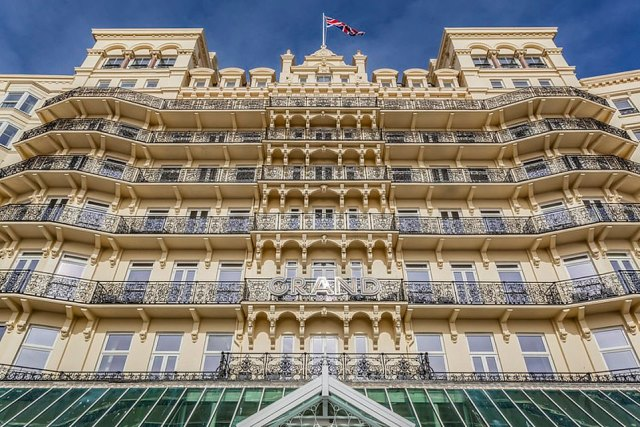 """The Grand Brighton was officially opened on July 21, 1864, 'to great fanfare and celebrated as the original """"Palace By The Sea""""'"""