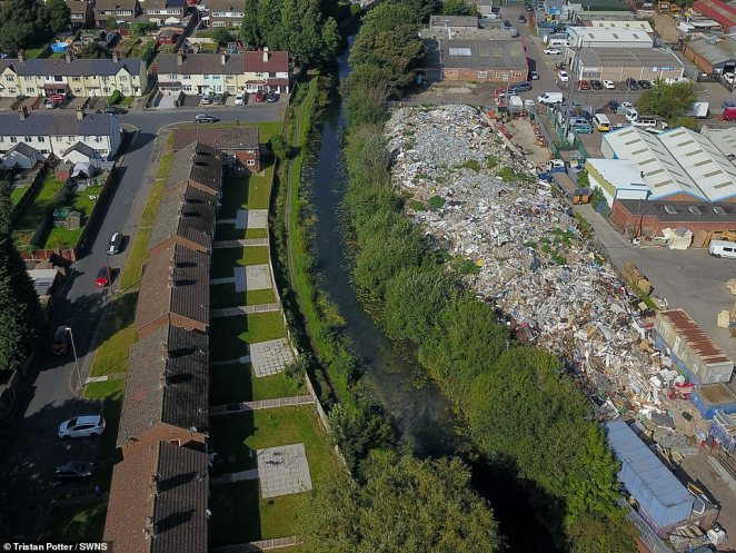 Firefighters spent hours tackling a blaze at the site on the Arrow Industrial Estate when the rubbish broke out in flames last April