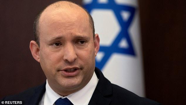 Israel's Prime Minister Naftali Bennett speaks during the weekly cabinet meeting at the Prime Minister's Office in Jerusalem, September 5, 2021