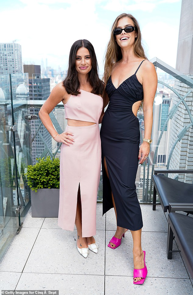 Double trouble: While attending the show the runway star posed with actress Lea Michele, 35