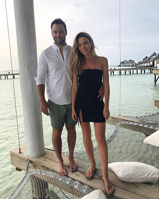 End of the road: The Bartels, once considered a glamour couple of the AFL, separated in 2019 after five years of marriage