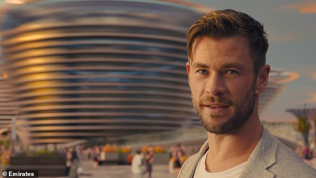 Tourism:In the advertisement, Chris explores the country's most iconic venues including the Exhibition Centre, Burj Khalifa skyline and Jumeirah Beach Park
