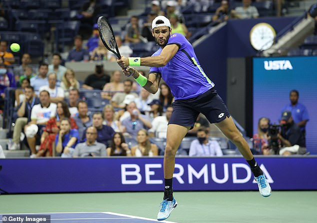 He defeated Italian Matteo Berrettini in four sets, just as he did in this year's Wimbledon final