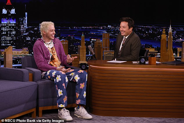 Bone bruise:'So Colton, or as you may know him Machine Gun Kelly, he bruised his coccyx that week,' Pete said referencing the singer whose real name is Colson Baker