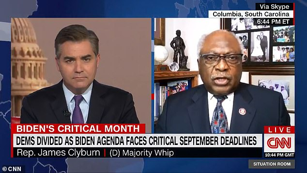 Clyburn made his comments on CNN amid a Democratic clash over the size of a budget reconciliation package