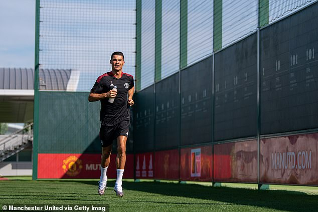 Ronaldo has been back in training at Carrington as he prepares to face Newcastle United